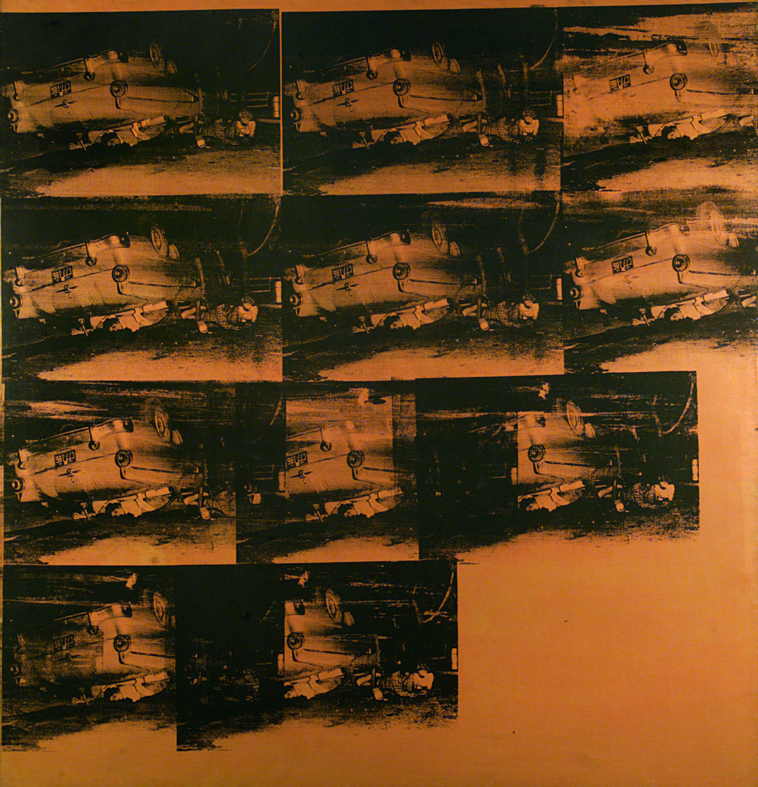 Andy Warhol, Orange Car Crash, 1963