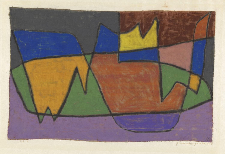 Paul Klee, Blumenanlage im Park von V., 1936