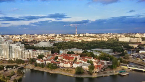 Secoli di storia cristallizzati in una vibrante ambientazione: Minsk
